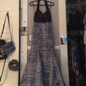 Halter mermaid prom dress by Linda Bernell